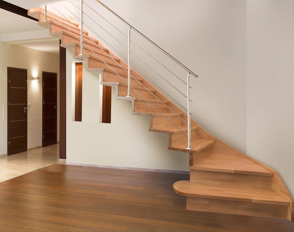 scala legno marretti scalini e sottogrado in faggio finger-joint
